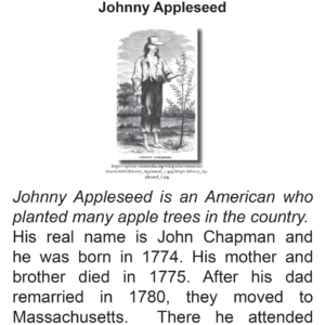 SES Weekly Reading-Johnny Appleseed Day