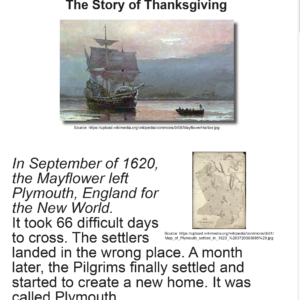 SES Weekly Reading-The Story of Thanksgiving